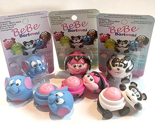 bebe-bartoons-ladybug-elephant-panda-set-of-3-lip-balm-collection