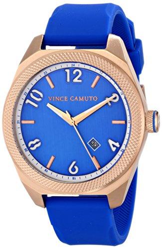 Vince Camuto VC/1051BLRG - Reloj unisex, correa de silicona color azul