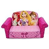 ディズニープリンセス オープンフラットソファ|ソファーとしてもマットレスとしても使える!(Disney Princess Open Flat Sofa) [並行輸入品]