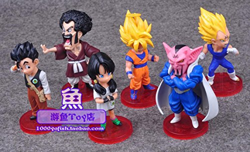 [6pcs Dragon Ball Super Saiyan Son Goku Gohan Vegeta Videl Hercule/Satan Dabura Banpresto Action Figure] (Hercules Costumes Ideas)