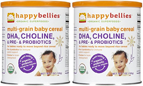 Happy Bellies Baby Cereal Multigrain, 7 Ounce (Pack of 2)