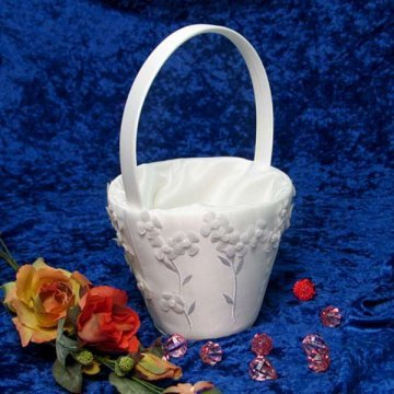 Jayla Floral Bridal/Wedding Flower Girl Basket