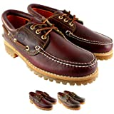 Mens Timberland Heritage Classic Lug Leather Lace Up Boat Shoe - Brown - 7