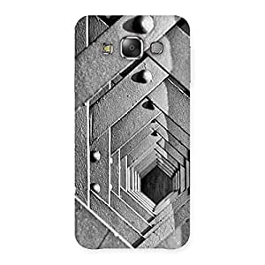 Premium Cage Hexa Back Case Cover for Galaxy E7
