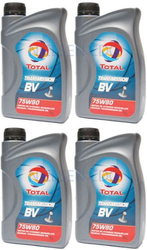 Total BV 75W80 Transmission Manual Gear Box Oil TOT-149980-4 - 4x1L = 4L