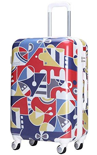 (ラッキーパンダ) Luckypandaスーツケース 超軽量 中型 MS017-TM-W03 TSAロック キャリーバッグ キャリーケース かわいい キャリーバック ファスナー ハード トラベルバッグ バック 旅行かばん Suitcase Luggage amazon (M(4~6日の旅行向け))