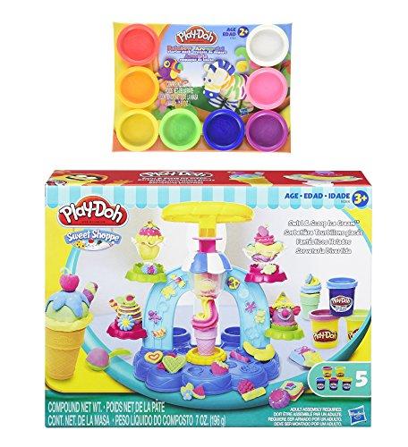 Play-Doh Sweet Shoppe Swirl and Scoop Ice Cream Playset + Play-Doh Rainbow Starter Pack 16oz - Bundle (Play Doh Swirl Ice Cream compare prices)
