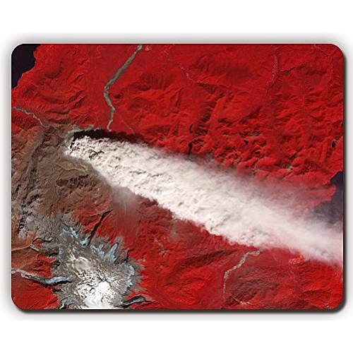 high quality mouse pad,planet earth surface land smoke clouds red,Game Office MousePad size:260x210x3mm(10.2x 8.2inch)