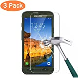 3 Pack Galaxy S7 Active Screen Protector Asstar 9H Hardness 2.5D Tempered Glass Bubble-Free Screen Protectors...