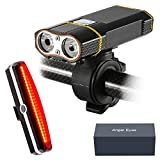 Super Bright Bicycle Light USB Rechargeable - Xawy T1 800 Lumens Headlight - Front Light & LED Bike Tail Light Set. - Fits ALL Bikes, Road, Mountain, Waterproof - Easy Installation Cycling Flashlight