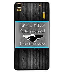 Fuson 2D Printed Quotes Designer back case cover for Lenovo A7000 - D4226
