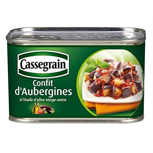 Cassegrain - Confit d'aubergines, à l'huile d'olive - La boîte de 375g - (pour la quantité plus que 1 nous vous remboursons le port supplémentaire)