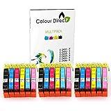 18 XL Haute Capacité ColourDirect Cartouches D'encre Compatibles Pour Epson Expression Photo XP-55,XP-750,XP-760,XP-850,XP-860,XP-950 3 Sets 24XL