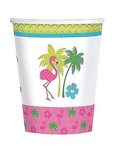 Flamingo Fun 9oz Cups (8 Pack)