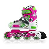 Junior Kids Adjustable Inline Roller Skates in different colors and sizes (Purple, S 13-2)