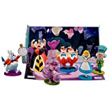 Alice in Wonderland Figurine Play Set -- 6-Pc.