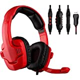 VIPstore® Red 7.1 Surround Professional USB Strong Bass Stereo Games Gaming Headset Headphones With Mic For PC...