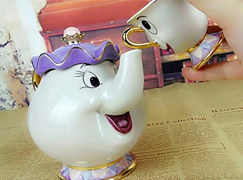Beauty And The Beast Teapot Mug Mrs Potts Chip Tea Pot Cup [ Optional Purchase] Lovely Xmas Gift
