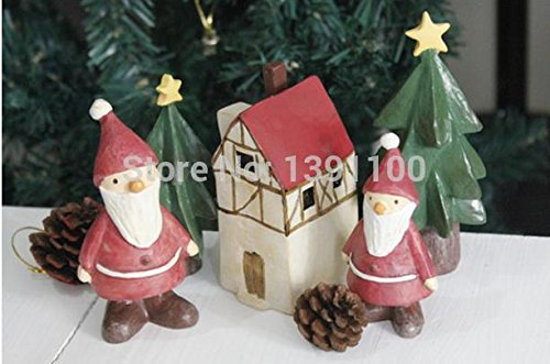 2015 -Doll house gift Suit Handicraft Christmas Resin Small Figurine DIY home decoration kids gift lovely toy Decoration De Noel Resin