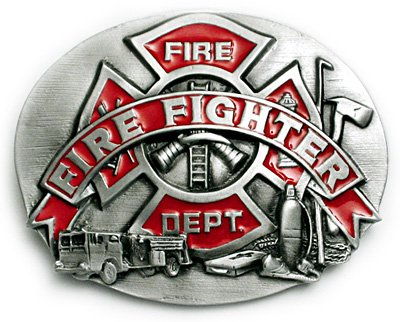 Buy FIRE FIGHTER Belt Buckle Fire Department Firefighter Rescue