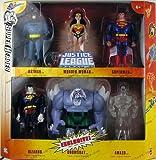 DC Super Heroes Justice League Unlimited Exclusive Action Figure 6-Pack (Superman, Wonder Woman, Batman, Bizarro, Doomsday & Clear Amazo)