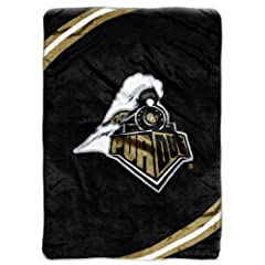 NCAA Purdue Boilermakers Force Royal Plush Raschel Throw Blanket, 60x80-Inch by Northwest