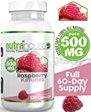 Pure Raspberry Ketones 500 MG Additive Free by NutraHouse Vitamins. 120 Veggie Caps - Full 60-day Supply! All Natural Weight Loss, Non-Stimulant Fat Burner. Raspberry Ketones support Natural Weight Management. Purest Raspberry Formula. Natural Appetite Suppressant & Weight Loss Supplement