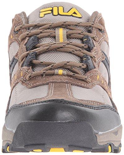 Fila Men's Country 1 Trail Running Shoe, Brown/Walnut/Goldfish, 12 M US