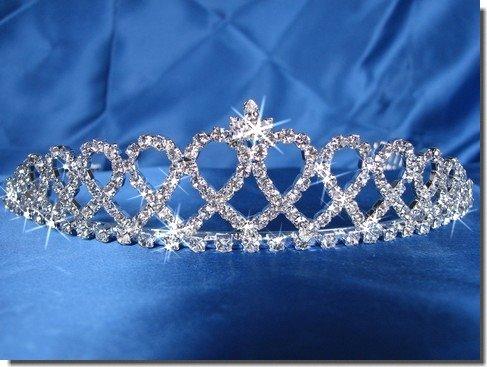 Bridal Tiara,Princess Tiara With Crystal Loops 24426Bridal Tiara,Princess Tiara With Crystal Loops 24426