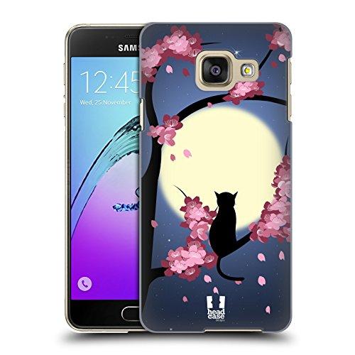 Head Case Designs Gatto Boccioli Da Sogno Cover Retro Rigida per Samsung Galaxy A3 (2016)