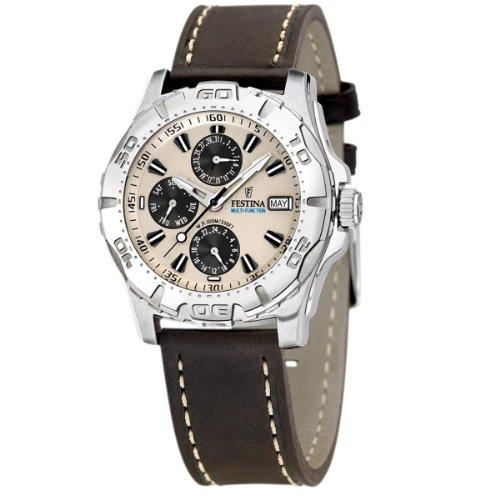 FESTINA Sport 16243/2 - Reloj unisex de cuarzo, correa de piel color marrón