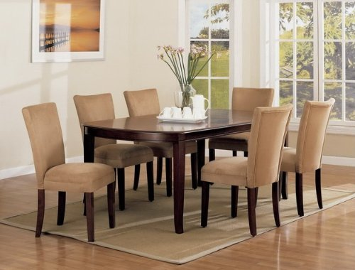 Cheap Capuchino Dining Table and 6 Parson Chairs