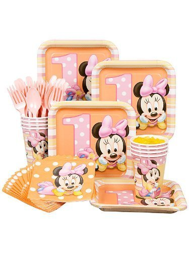 Baby Minnie Mouse 1St Birthday Party Pack Supplies For 16 Guests By Hallmark front-1066953