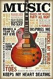 Music is Passion // Maxi Poster 61 x 91,5 cm // reindersshop #23204