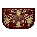 Structures Textured Fruit Border Non-Slip Wedge Shaped Kitchen Slice Rug, 18 by 28-Inch
