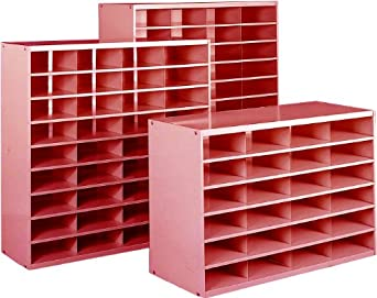 "Equipto 41-12-RD Steel Literature Rack, 36"" W x 24"" H x 12"" D, Textured Red"