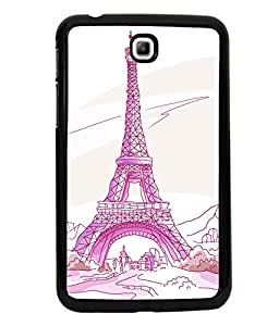 printtech Paris Tower Sketch Cartoon Back Case Cover for Samsung Galaxy Tab 3 7.0 :: Samsung Galaxy Tab 3 T211 P3200