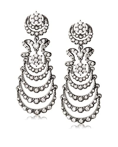 CZ by Kenneth Jay Lane Cascading CZ Chandelier Earrings