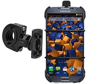 mumbi TwoSave Fahrradhalter Samsung Galaxy S4 Motorrad und Fahrrad Halterung mit Sicherheitsband