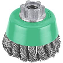 Hitachi 729211 3-Inch Crimped Carbon Steel Wire Cup Brush, Multi-Arbor