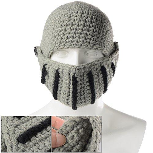 Xcellent Global Berretto Unisex Stile Soldato Romano Realizzato a Mano in Maglia A Prova di Vento e Polvere, Grigio I-SP029H
