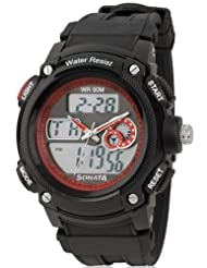 Sonata Ocean Series Digital Red Dial Men's Watch ND7989PP03J