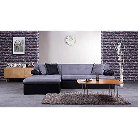 leveä sofá Conv cama ángulo Rev 5P Negro Gris