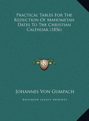 Practical Tables for the Reduction of Mahometan Dates to the Christian Calendar (1856)