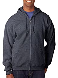 GILDAN Adult Heavyweight Blend Full-Zip Hooded Sweatshirt>5XL Dark Heather