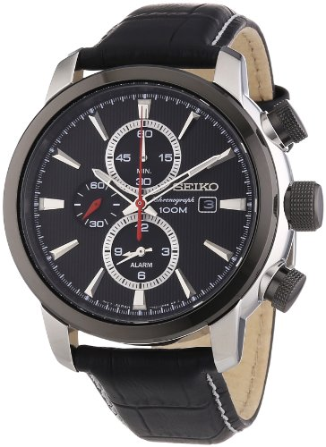 Seiko-Alarm-Chronograph-SNAF47P2-Orologio-da-polso-Uomo