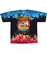 Liquid Blue LED ZEPPELIN ICARUS Tie-Dye T-Shirt sizes S - 6XL