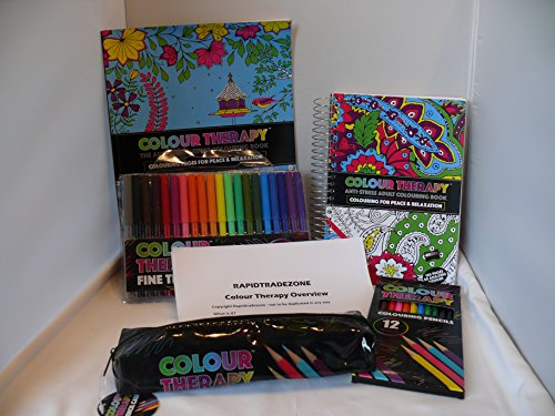 adult-colouring-set-three-books-colour-therapy-anti-stress-pattern-colouring-with-free-pencils-case-
