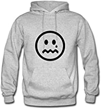 Crying Unhappy Smiley Face Now Sad Printed Women Elegent Sweatshirts - - Electric