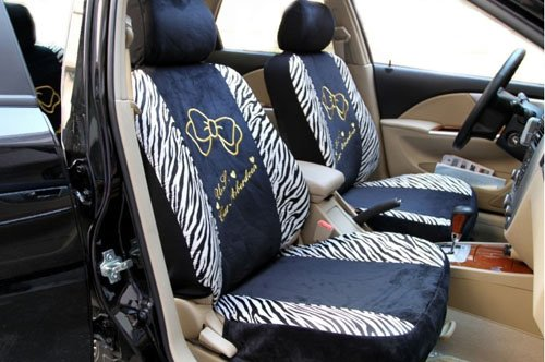Kitty Zabra Auto Car Front Rear Back Saddle Seat Cover Cushion 10pcs EMS Shipping ZJ000178